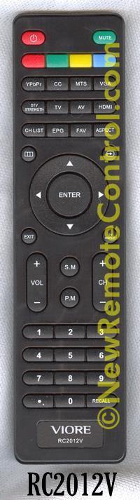 Remote control for viore tv